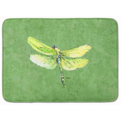 Dragonfly on Avacado Memory Foam Bath Rug