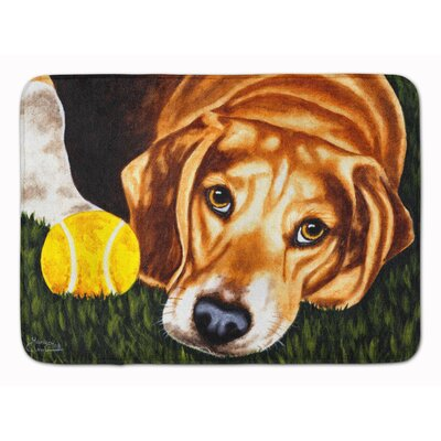 Have Ball Will Travel Beagle Memory Foam Bath Rug