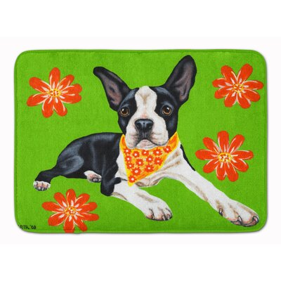 Cosmo Cutie Boston Terrier Memory Foam Bath Rug