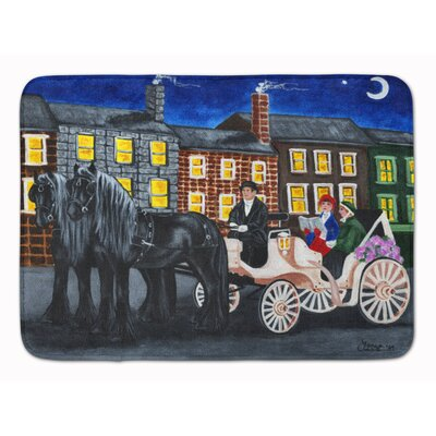 City Carriage Ride Horse Memory Foam Bath Rug