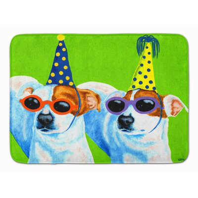 Party Animals Jack Russell Terriers Memory Foam Bath Rug