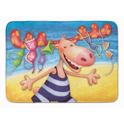 Moose on the Beach Memory Foam Bath Rug