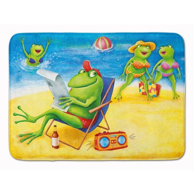 Frogs on the Beach Memory Foam Bath Rug