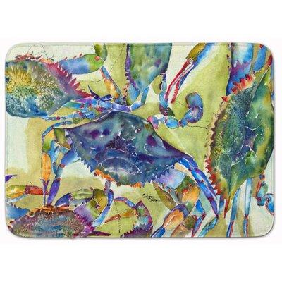 Crab All Over Memory Foam Bath Rug