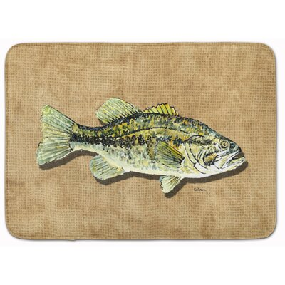 Edgerton Small Mouth Bass Memory Foam Bath Rug
