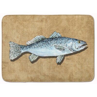 Speckled Trout Memory Foam Bath Rug
