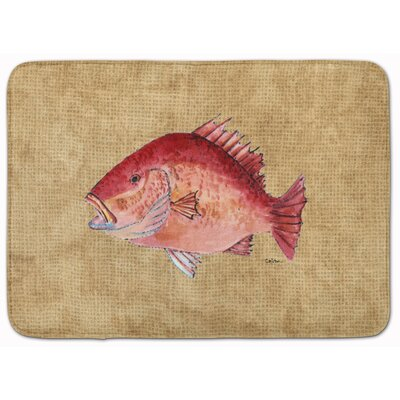 Strawberry Snapper Memory Foam Bath Rug