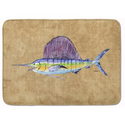 Swordfish Memory Foam Bath Rug