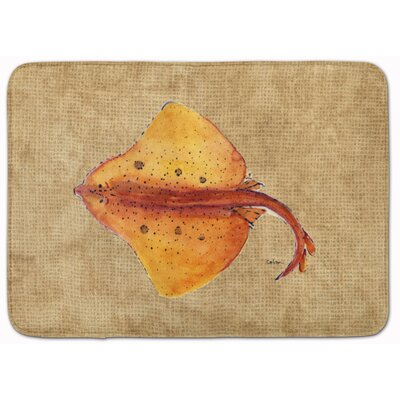 Blonde Ray Stingray Memory Foam Bath Rug