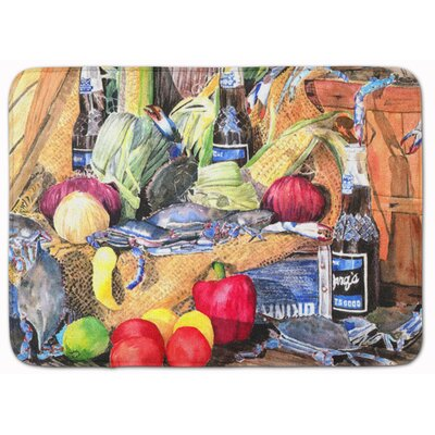 Barqs and Crabs Memory Foam Bath Rug