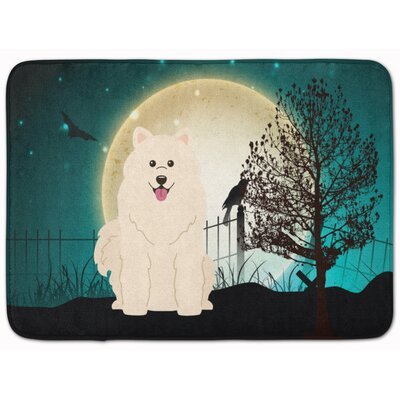 Halloween Scary Samoyed Memory Foam Bath Rug