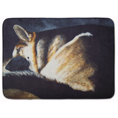 Day Dreamer German Shepherd Memory Foam Bath Rug