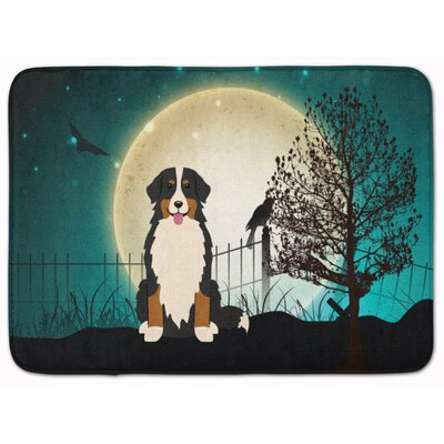 Halloween Scary Bernese Mountain Dog Memory Foam Bath Rug