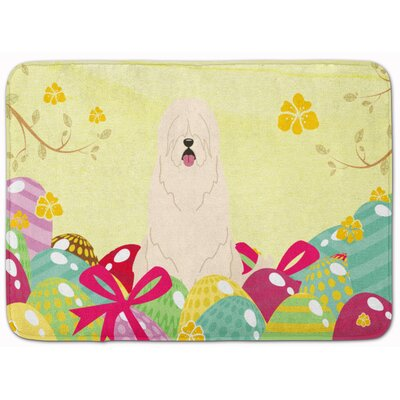 Easter Eggs South Russian Sheepdog Memory Foam Bath Rug