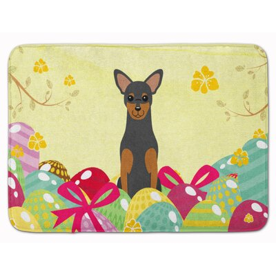 Easter Eggs Manchester Terrier Memory Foam Bath Rug