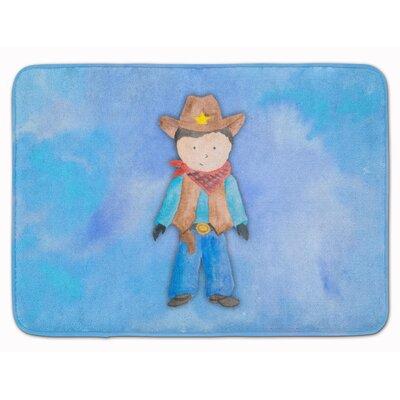 Wyatt Cowboy Watercolor Memory Foam Bath Rug