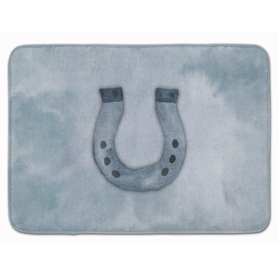 Horseshoe Watercolor Memory Foam Bath Rug