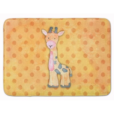 Giraffe Watercolor Memory Foam Bath Rug