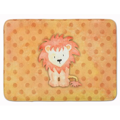 Lion Watercolor Memory Foam Bath Rug
