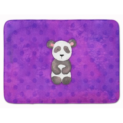 Panda Bear Watercolor Memory Foam Bath Rug