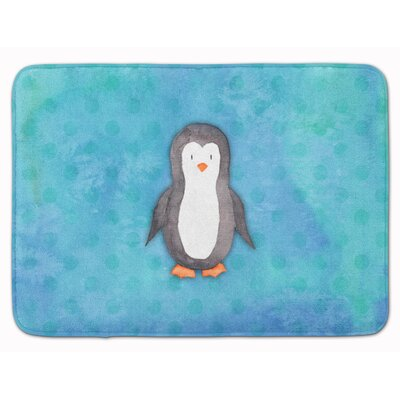 Penguin Watercolor Memory Foam Bath Rug