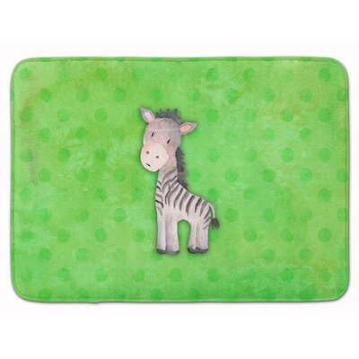 Zebra Watercolor Memory Foam Bath Rug