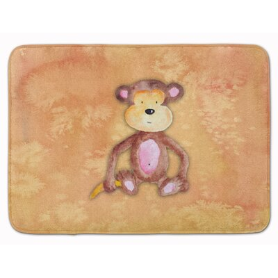 Monkey Watercolor Memory Foam Bath Rug