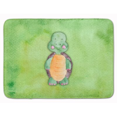 Xavier Turtle Watercolor Memory Foam Bath Rug