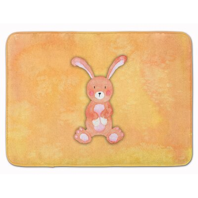 Beulah Rabbit Watercolor Rectangle Memory Foam Bath Rug