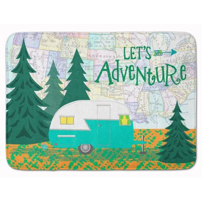 Lets Adventure Glamping Trailer Memory Foam Bath Rug