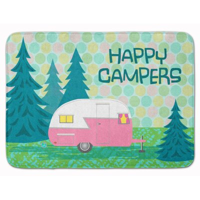 Happy Campers Glamping Trailer Memory Foam Bath Rug