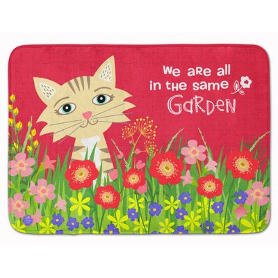 Garden Cat Memory Foam Bath Rug