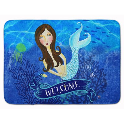 Welcome Mermaid Memory Foam Bath Rug
