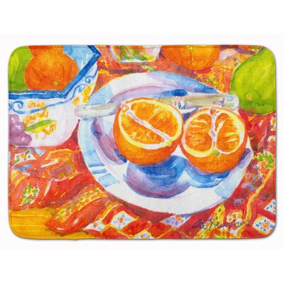 Oranges Sliced for Breakfast Memory Foam Bath Rug