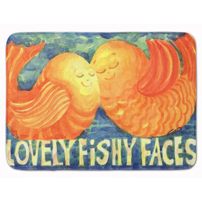 Fish Kissing Fish Memory Foam Bath Rug