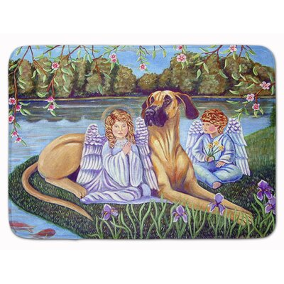 Angels with Great Dane Memory Foam Bath Rug