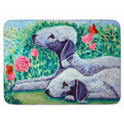Bedlington Terrier Memory Foam Bath Rug
