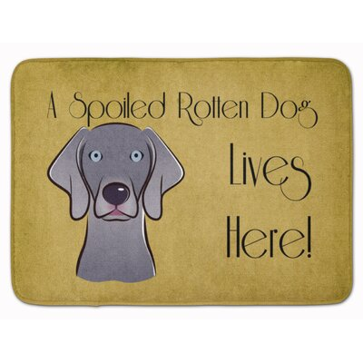 Weimaraner Spoiled Dog Lives Here Memory Foam Bath Rug