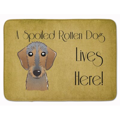 Wirehaired Dachshund Spoiled Dog Memory Foam Bath Rug