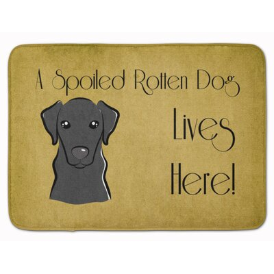 Corington Labrador Spoiled Dog Lives Here Memory Foam Bath Rug