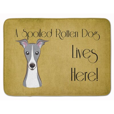 Coglin Italian Greyhound Spoiled Dog Memory Foam Bath Rug