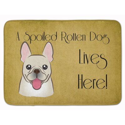 French Bulldog Spoiled Dog Lives Here Memory Foam Bath Rug