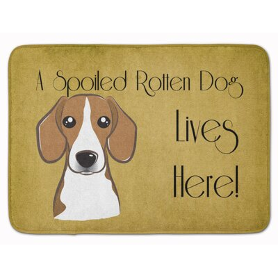 Beagle Spoiled Dog Lives Here Memory Foam Bath Rug