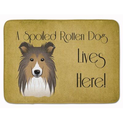 Sheltie Spoiled Dog Lives Here Memory Foam Bath Rug