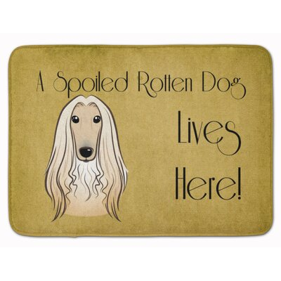 Afghan Hound Spoiled Dog Lives Here Memory Foam Bath Rug