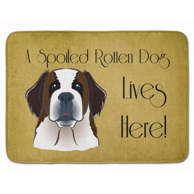 Saint Bernard Spoiled Dog Lives Here Memory Foam Bath Rug