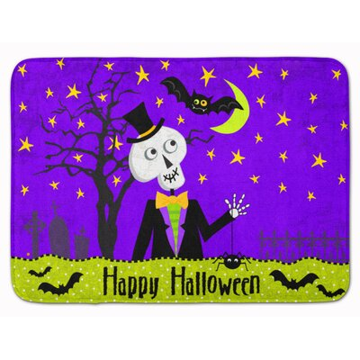 Happy Halloween Skeleton Memory Foam Bath Rug