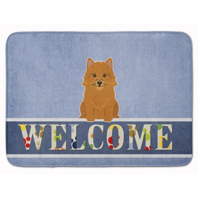 Norwich Terrier Welcome Memory Foam Bath Rug