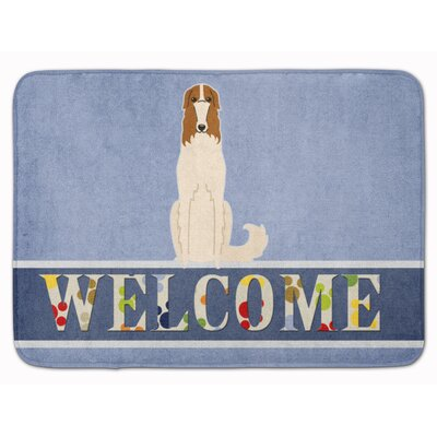 Borzoi Welcome Memory Foam Bath Rug