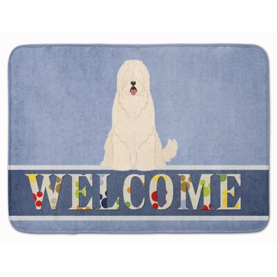 South Russian Sheepdog Welcome Memory Foam Bath Rug